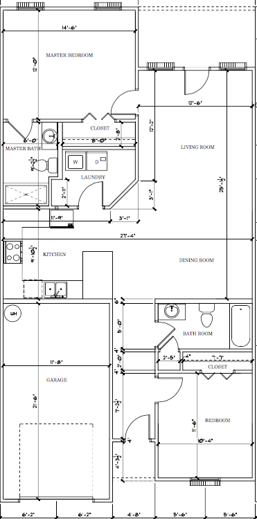 Churchill Floor Plan The Paddock at Sheffield Downs