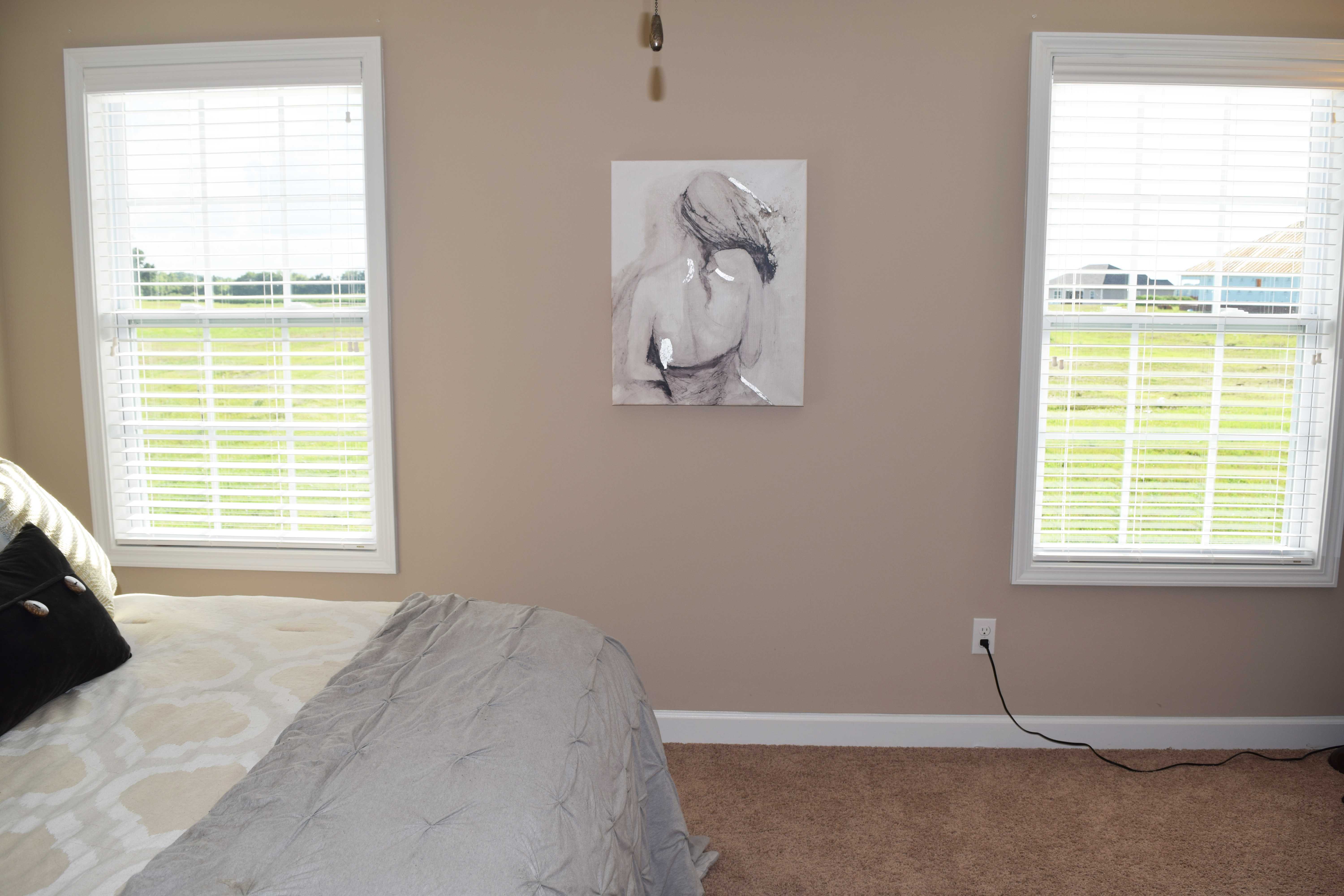 Bedroom with Backyard View at The Paddock Hopkinsville